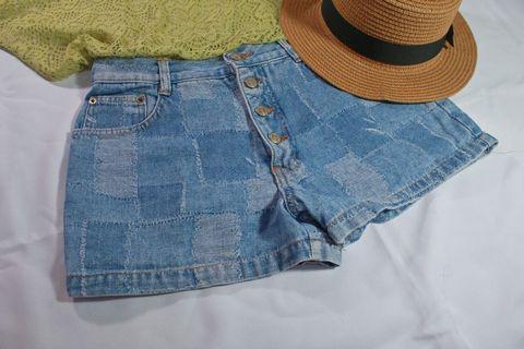 Summer|單排扣短褲、單排扣熱褲、歐美短褲