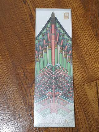 韓國景福宮宮簷文創鉛筆