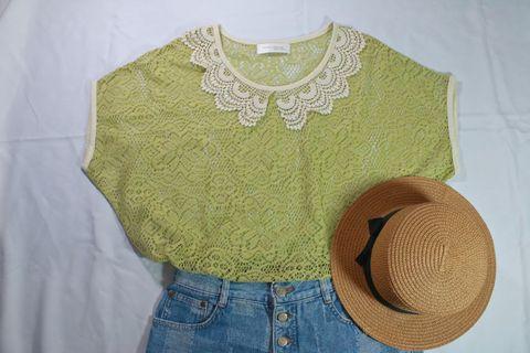 Summer |日系罩衫、蕾絲罩衫、夏日罩衫