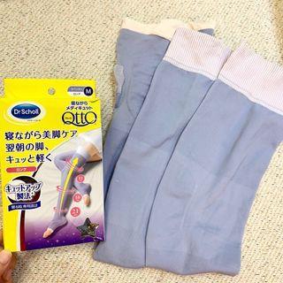 《日本QTTO》睡眠專用機能美腿襪(包到大腿M號)