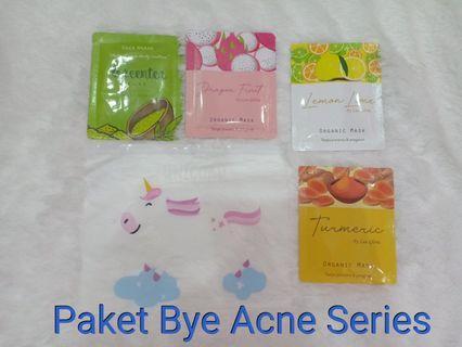 "Paket masker wajah "" bye acne series"""
