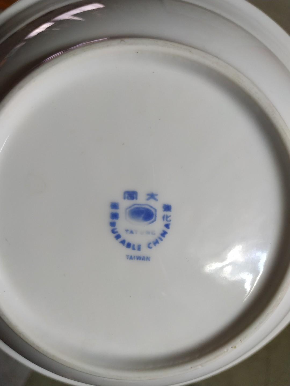大同  白磁餐盤2十小碗公1