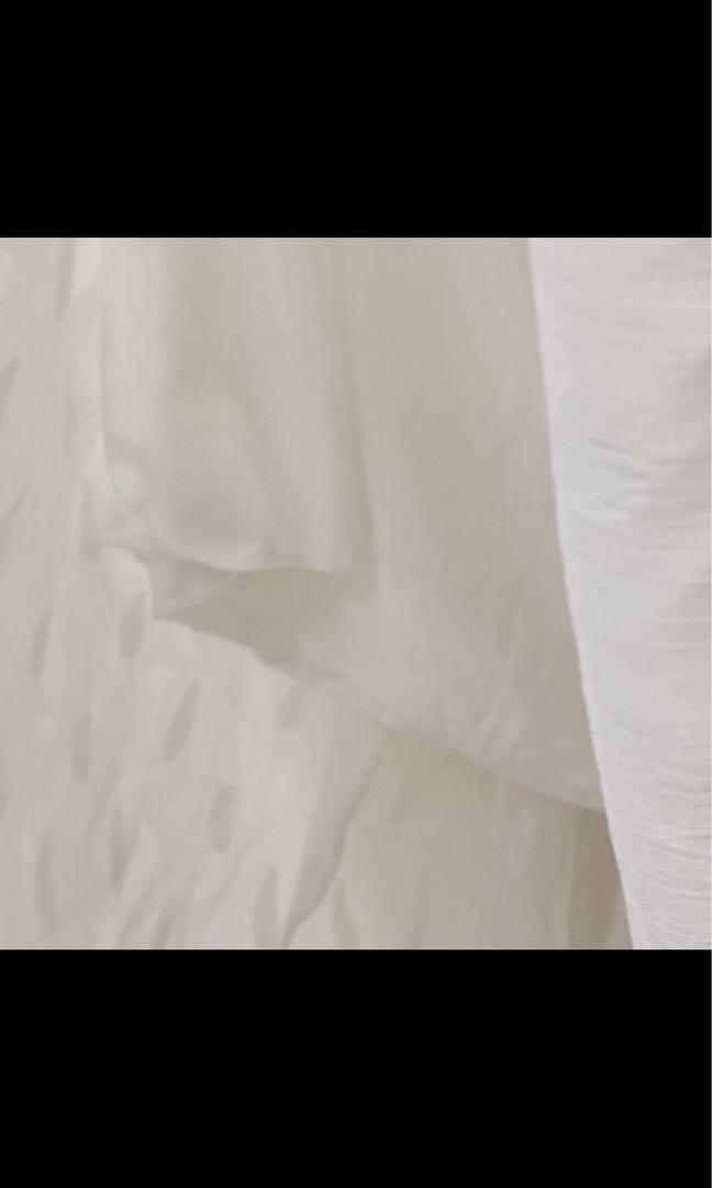 白色 不透 氣質半身裙