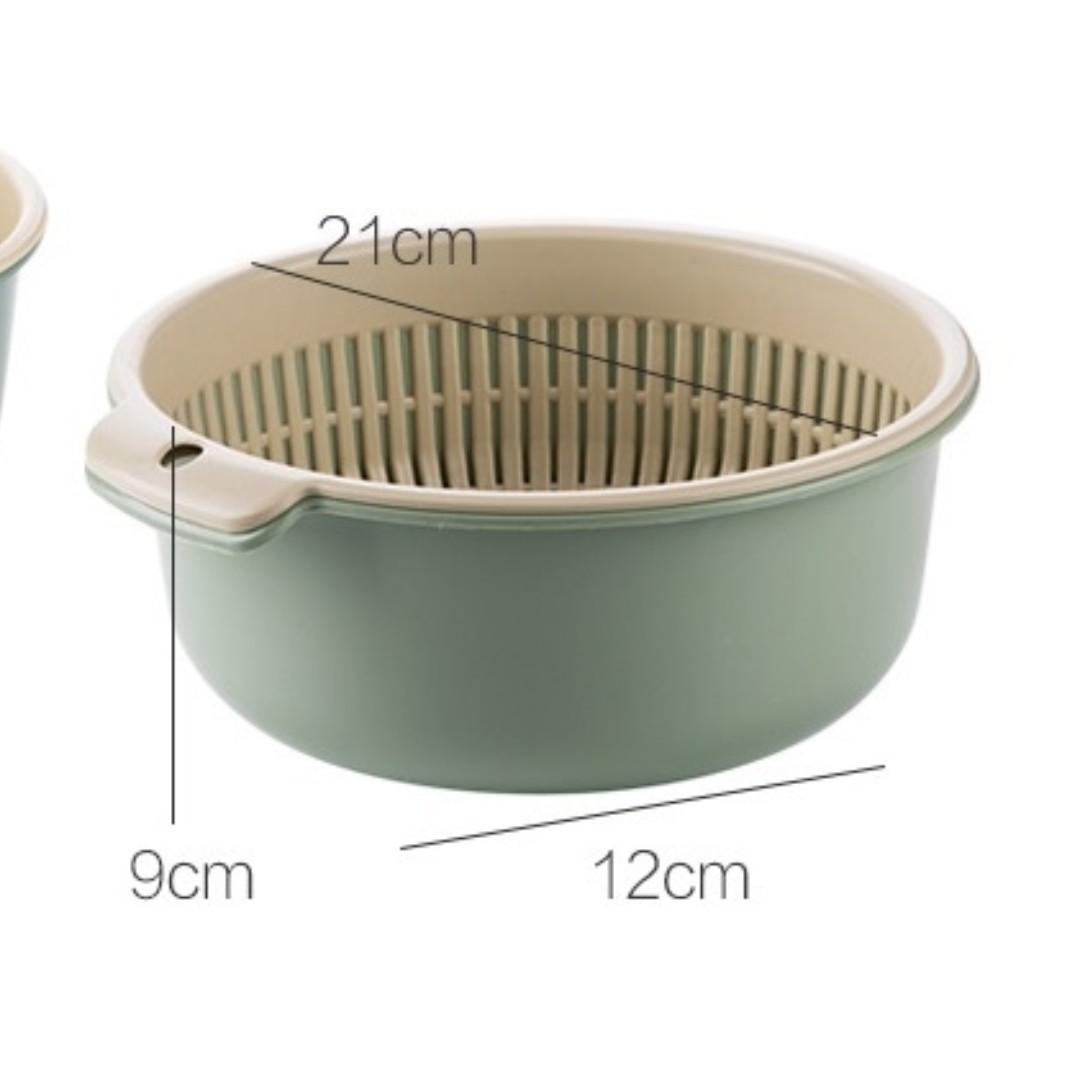 【現貨大款下標處】   雙層瀝水盆 鏤空 水果盆 洗水果 瀝水籃  家用水果籃 創意塑料 洗菜籃 廚房 洗菜盆