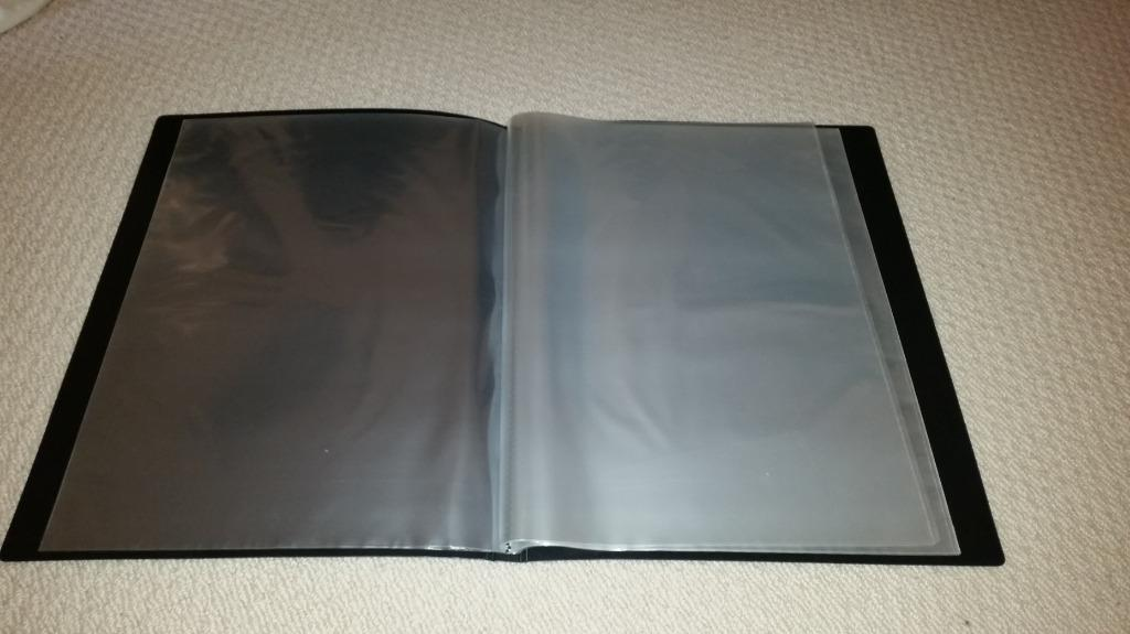 A3 Black Portfolio with 20 Acid Free Clear Sleeves