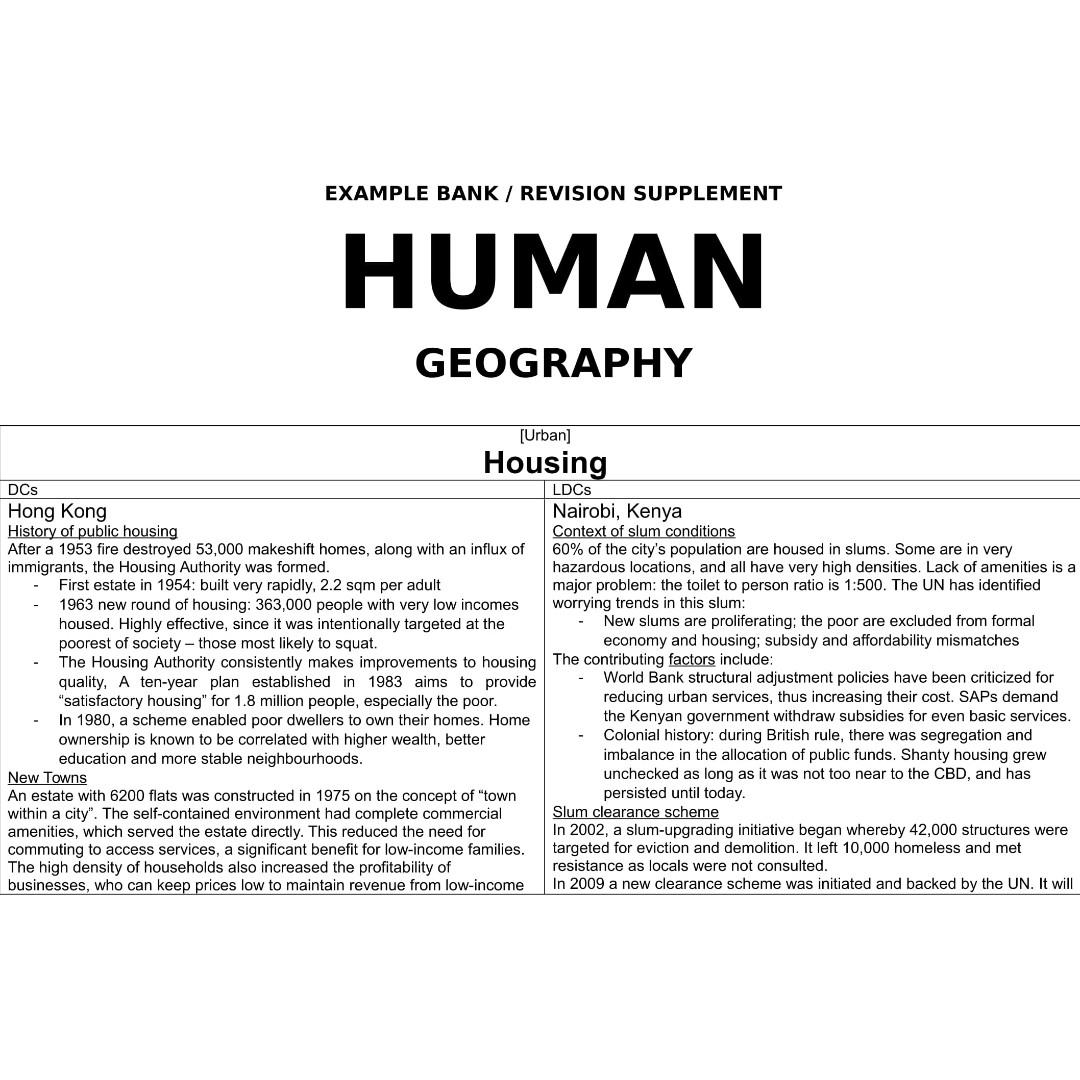 A Level H2 Geography Comprehensive Self-Made Notes from Hwa Chong Institution (E-Copy)