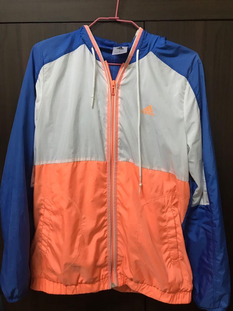 Adidas 拼色風衣外套