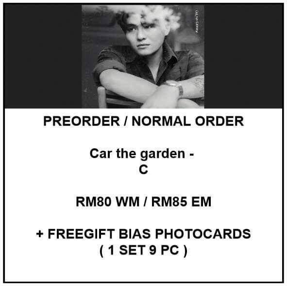 Car the garden - C - PREORDER/NORMAL ORDER/GROUP ORDER/GO + FREE GIFT BIAS PHOTOCARDS (1 ALBUM GET 1 SET PC, 1 SET GET 9 PC)