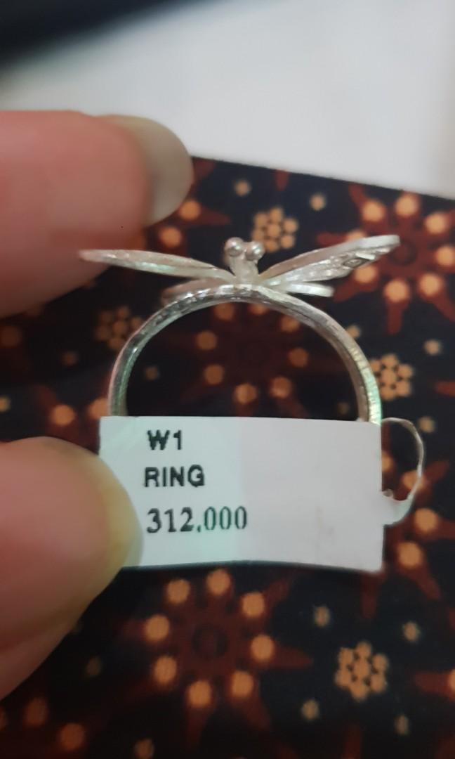 Cincin perak asli kupu2