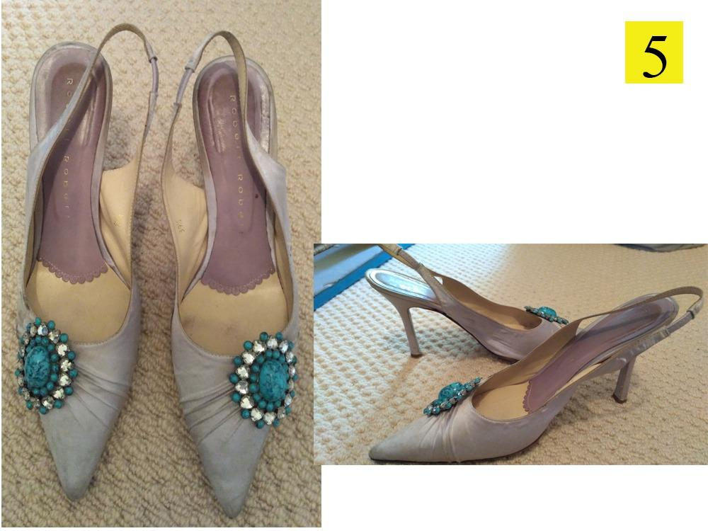 Collection of 6 pairs of designer high heels. Approx size 40