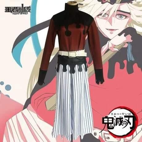 👹DOMA COSPLAY KIMETSU NO YAIBA ANIME UPPER MOON TWO DEMON SLAYER COSTUME MEN FASHION👹