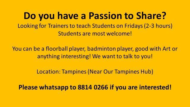 Freelance Trainers- Students Welcome!