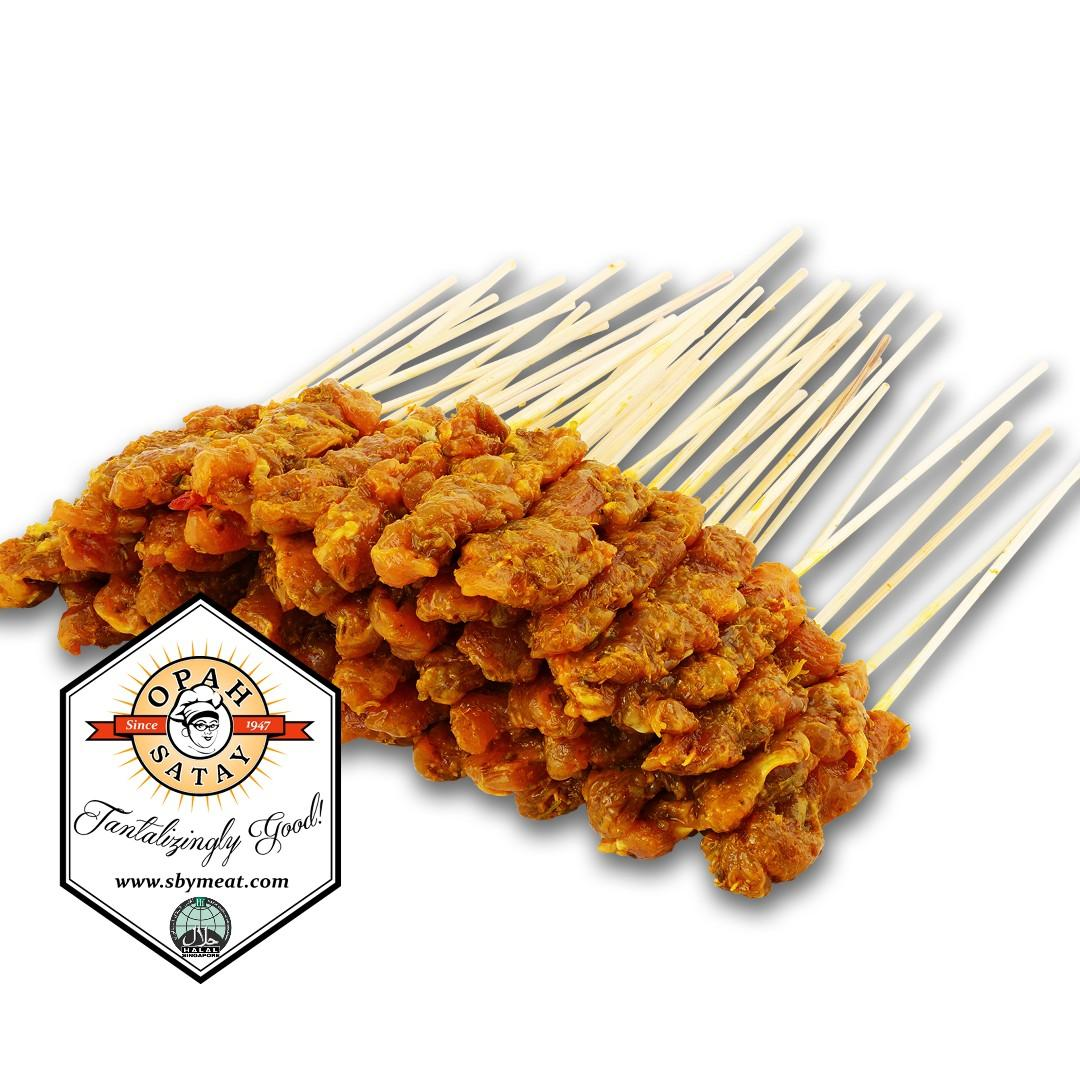 Frozen & Raw Chicken Satay x 50 sticks with Peanut Sauce