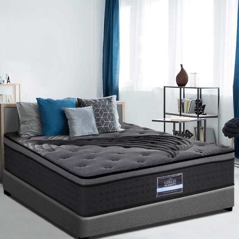 Giselle Bedding KING SINGLE Size Mattress Bed Pocket Spring Foam Bamboo 34CM