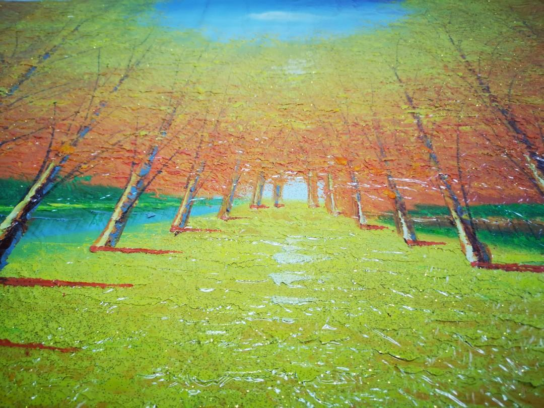 Golden Avenue Oil Painting