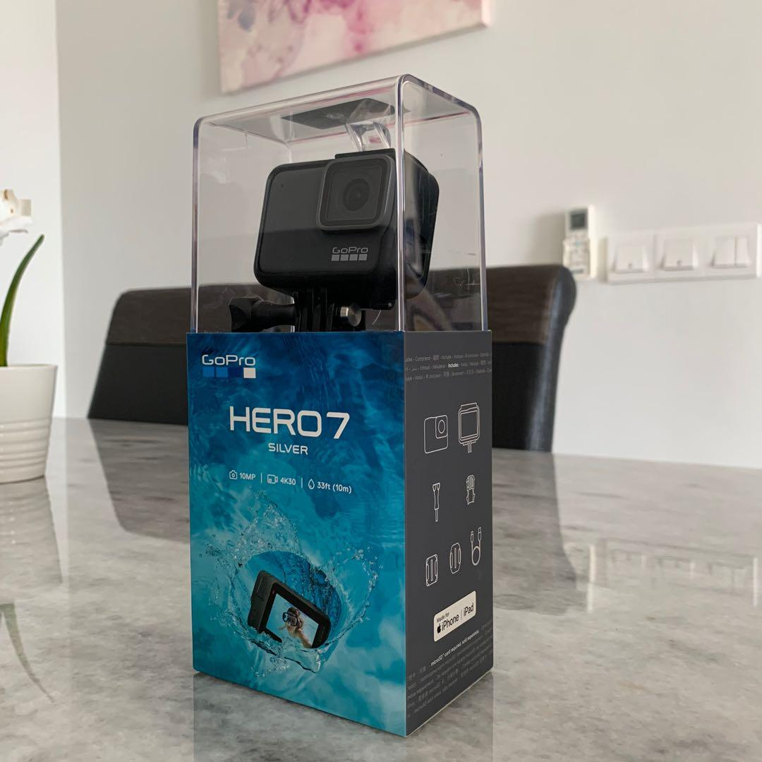 Brand New and Sealed GoPro Hero 7 Silver with Free Logitech Wireless M185 Mouse