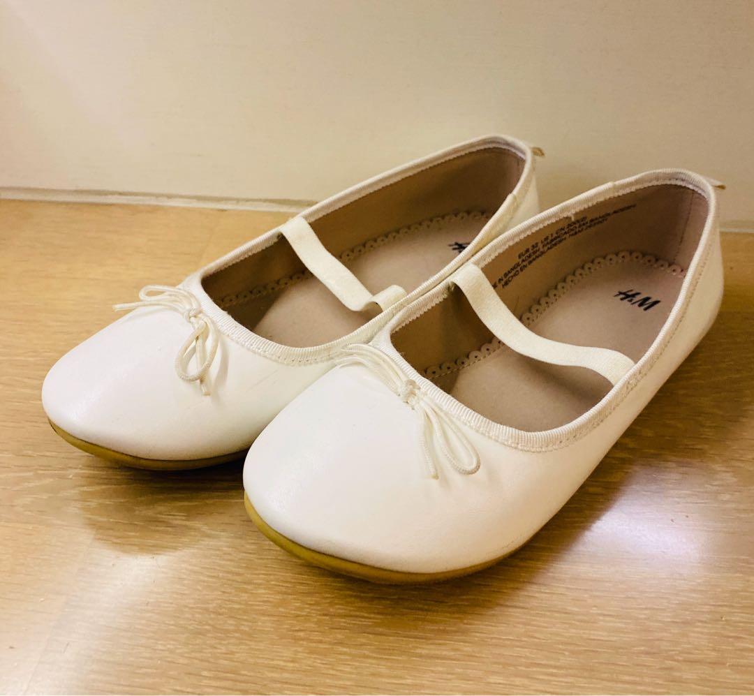 H&M 女童白鞋 公主鞋