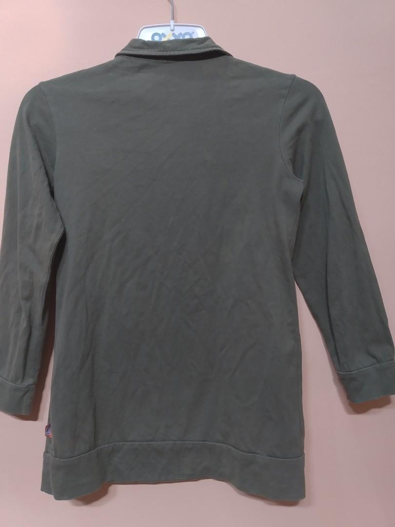 Kemeja Wanita Army Tops Atasan Pakaian Baju Blouse Kaos #mauovo
