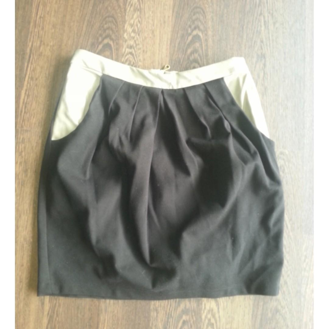 KJ by Kirrily johnston skirt NEW with leather detail