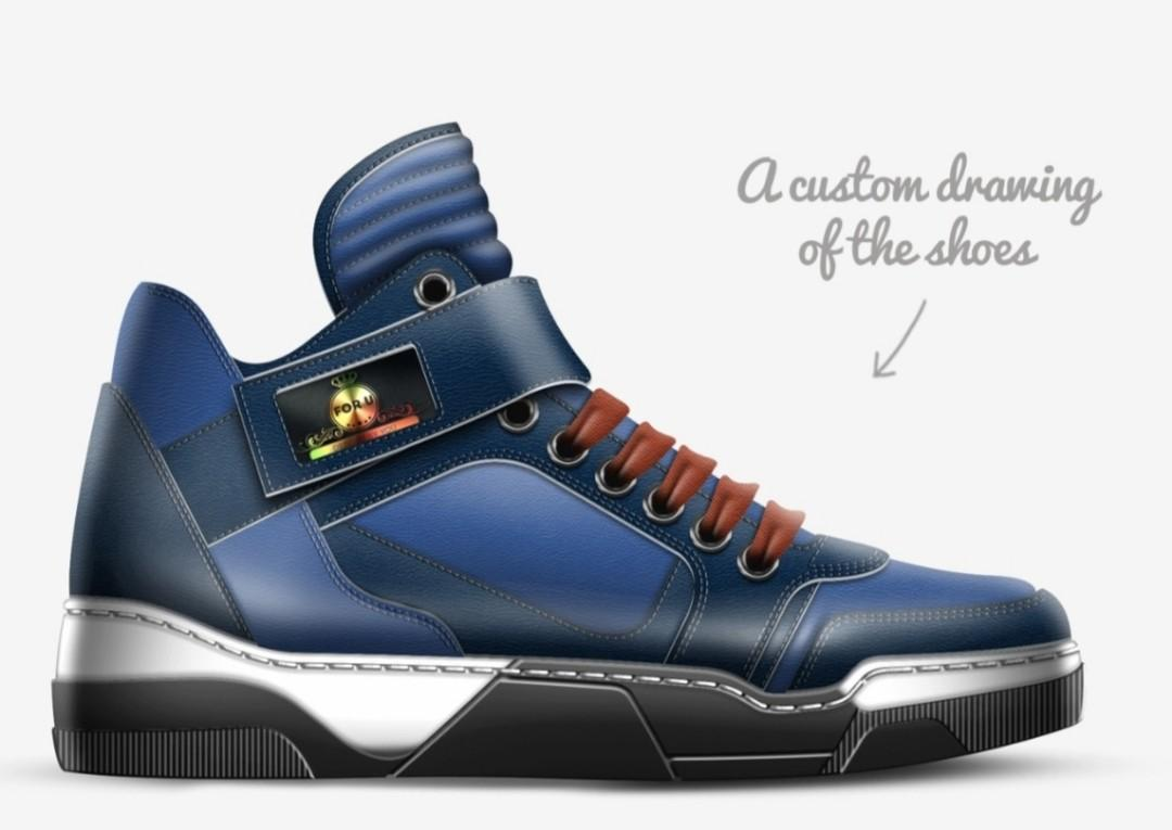 MODEL B007 FASHION STRAP HI TOP By Randy Betzold (US) Designs By You CUSTOM CRAFTED NEW MODEL MADE IN ITALY
