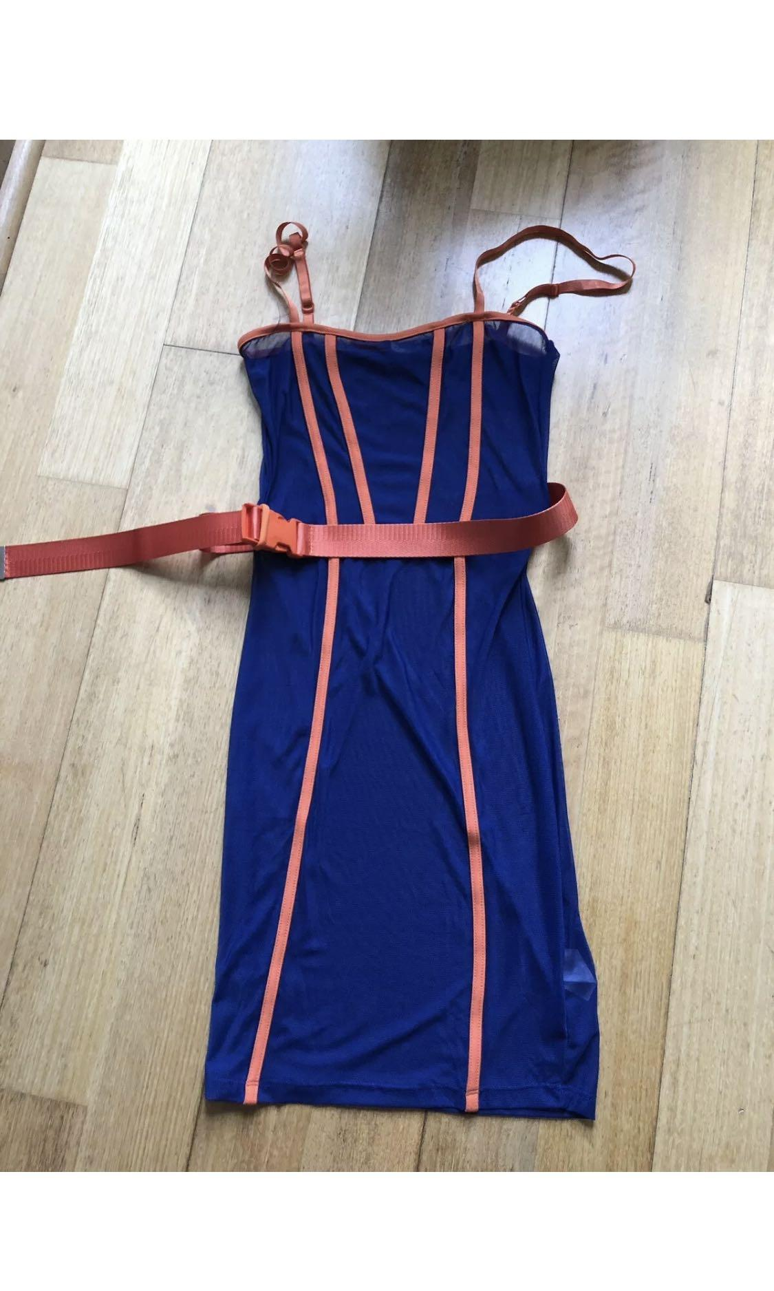 NEW TIGERMIST REVOLVE KARDASHIAN MESH DRESS WITH BODYSUIT S