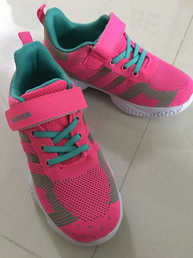 Pink Colour Girl Sport Shoes