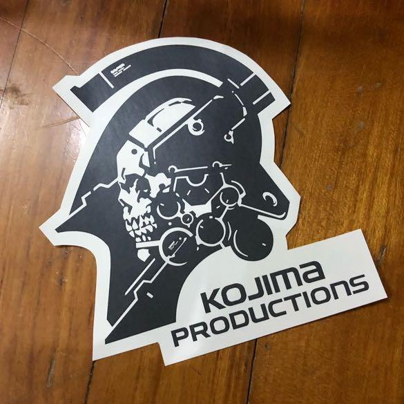 Pop Culture Luggage Laptop Misc Sticker Game Gaming Hideo Kojima Productions Ludens New Logo Mascot