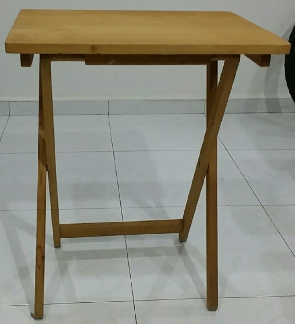 Portable Foldable Wooden Wood Table H60 x L40 cm