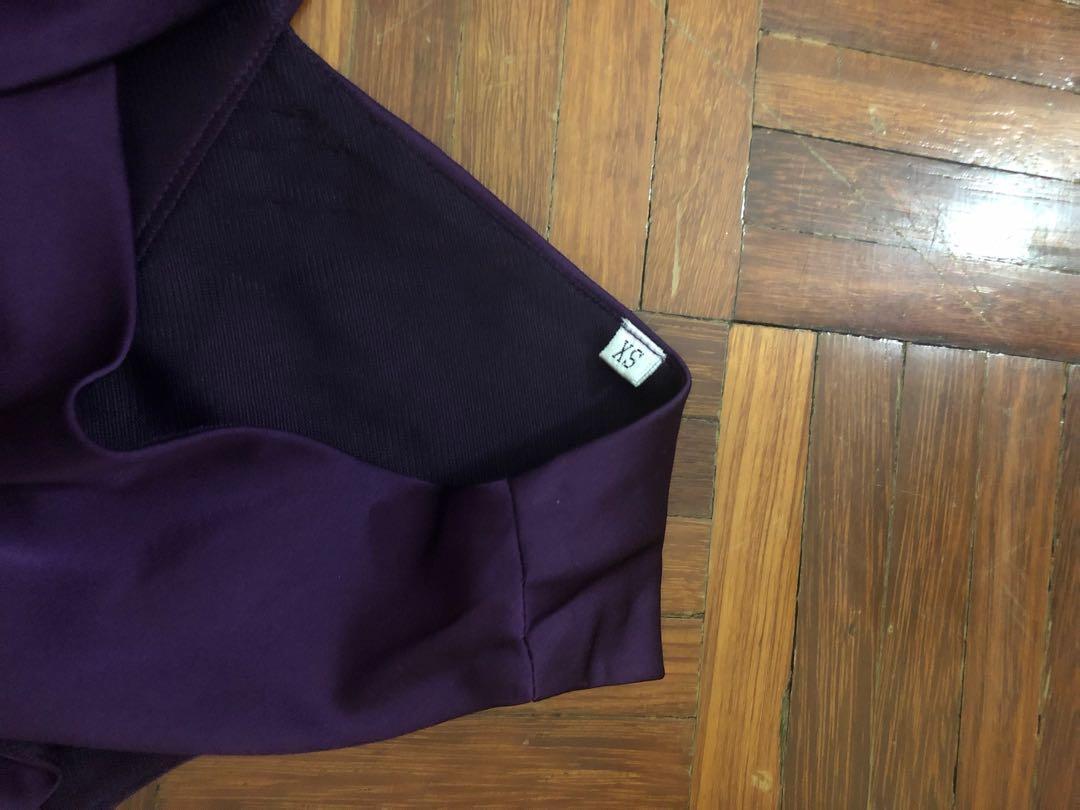 Purple With White Stripe Dress