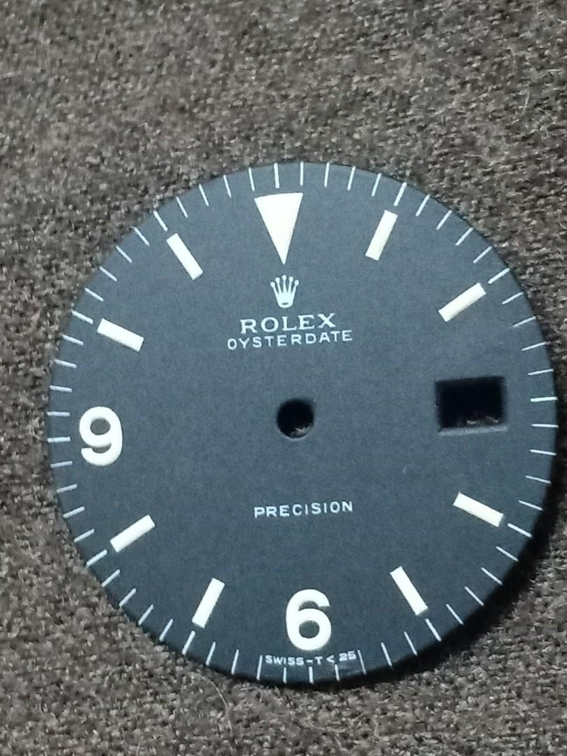 Rolex 6694 Oyster Date precision black Dial with Arabic & baton indices - authentic