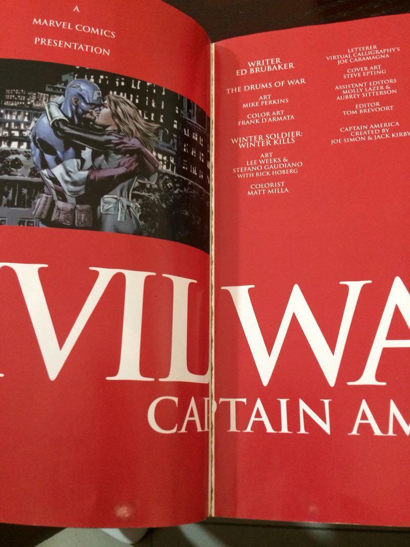 [SET] Iron Man & Captain America Civil War Marvel Comics Event Collected Editions