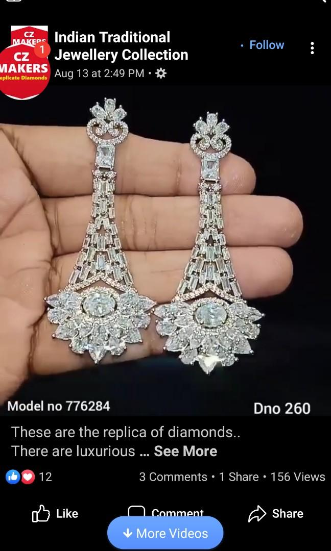 Superoir quality american diamond jewellery on order