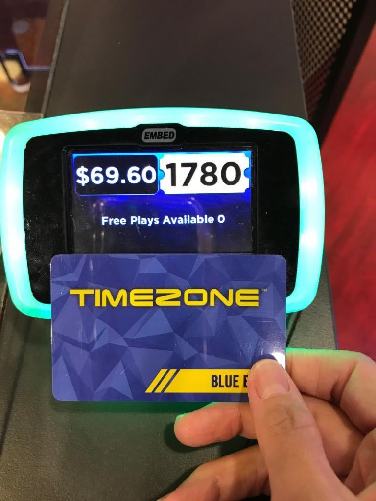Timezone card with e-tickets