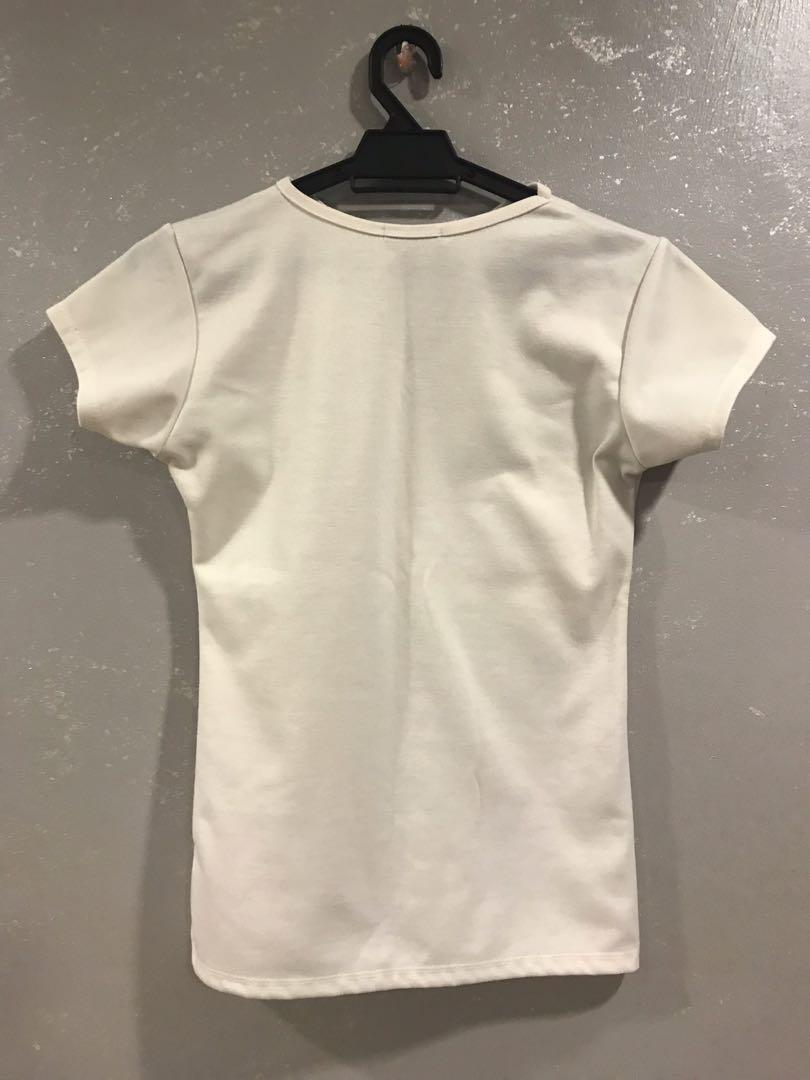 White Choker Top
