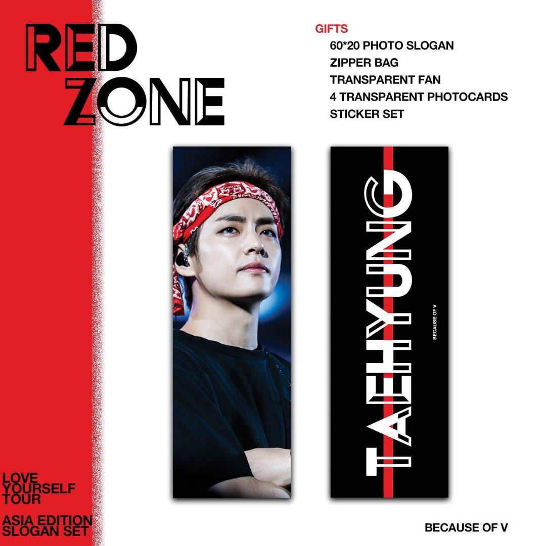 WTB TAEHYUNG (RED ZONE) \\ NAMJOON (REBORN MONARCH) SLOGANS