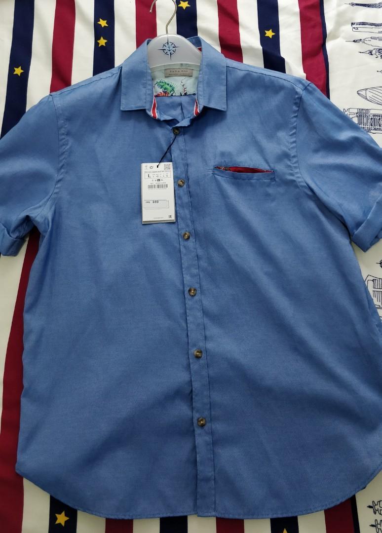 全新zara藍色襯衫大碼jordan g2000 playlord西裝