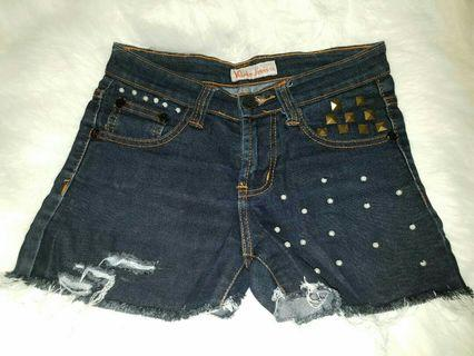 Hotpants Jeans Stude