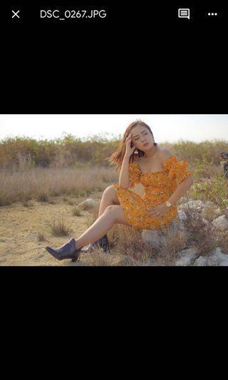 Dress bunga classic