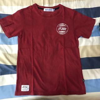 NNEVER&CO 潮牌 T shirt size:XS深紅色