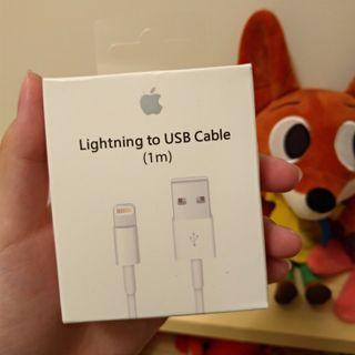 代友售 全新 蘋果 iphone 1m充電線 多的求售