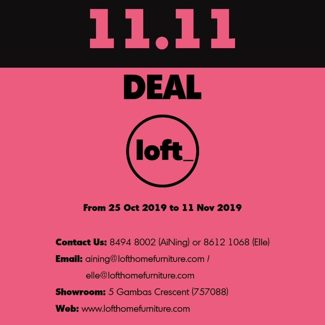 11.11 Mega Sales for Loft Home Furniture