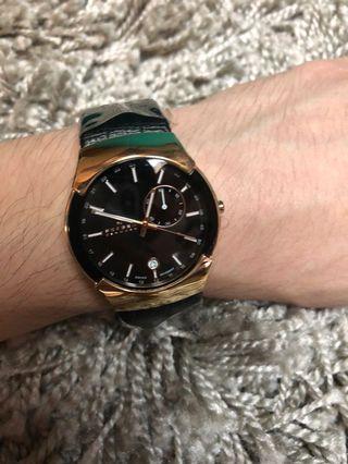 全新北歐丹麥 skagen 經典玫瑰金中性錶款