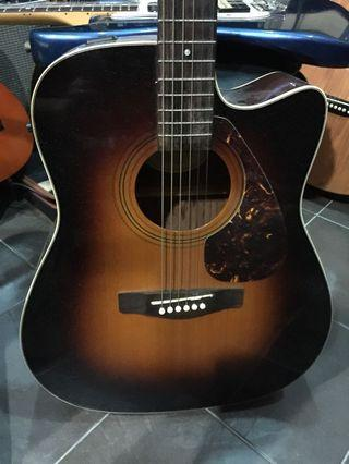 Yamaha Semi Acoustic Cutaway Tobacco Sunburst Guitar (Model: FX370C TBC)