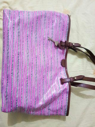 Fossil Rachel Tote Pink Stripes
