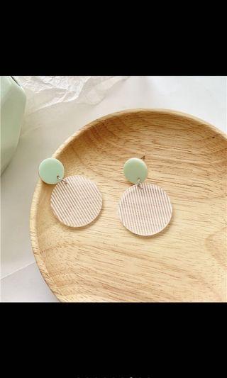 韓國🇰🇷新款小清新圓形耳環