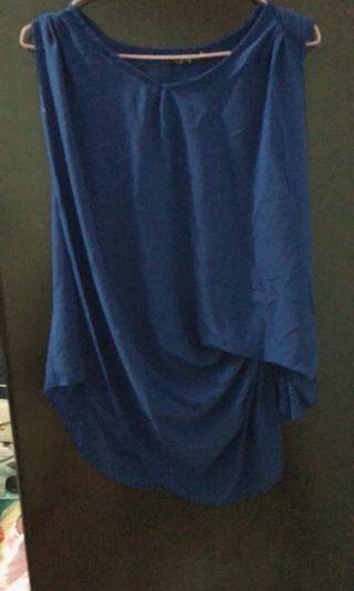 上班族首選耐搭設計感寶藍色上衣出清特賣80元9成新