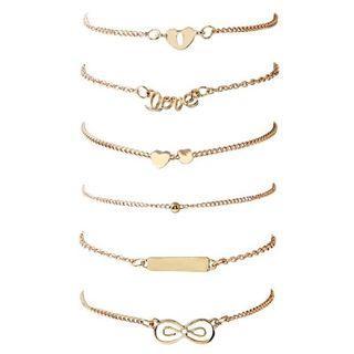 6in1 Women Infinite Bracelet Set