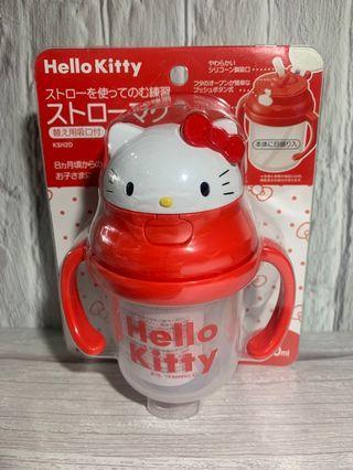 🇯🇵日本進口🇯🇵 SKATER凱蒂貓 HELLO KITTY 塑膠造型吸管練習杯