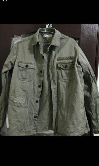 軍裝潮襯衫 原1100購入 M size