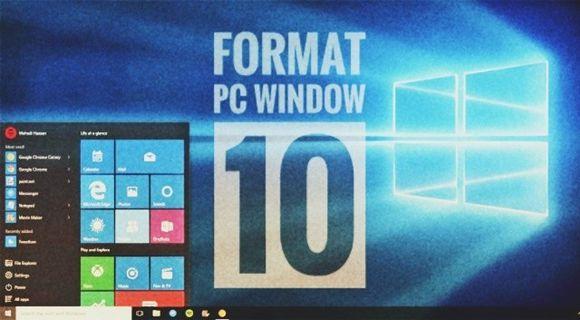 Format PC Window 10